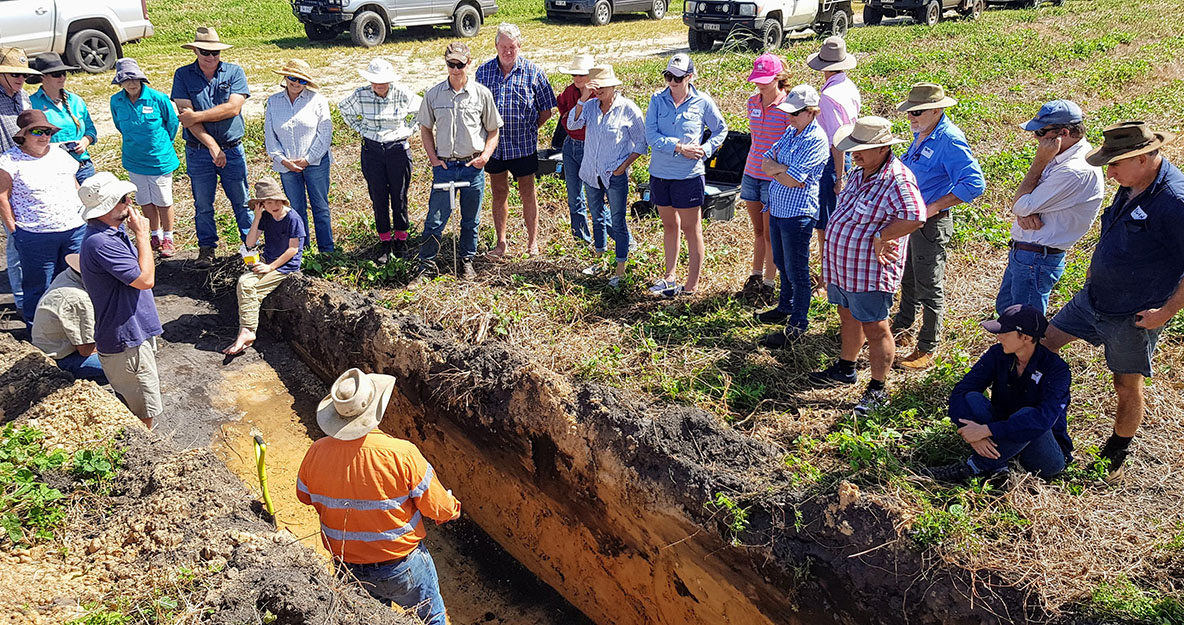 farmers learning soils